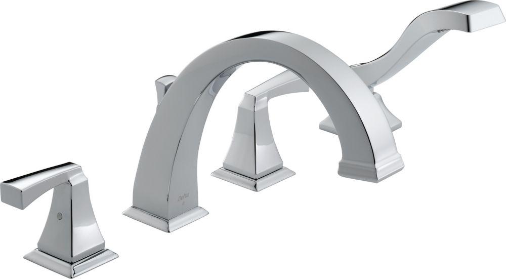 Dryden - Garniture seulement, 2 manettes pour baignoire romaine avec douchette, Chrome