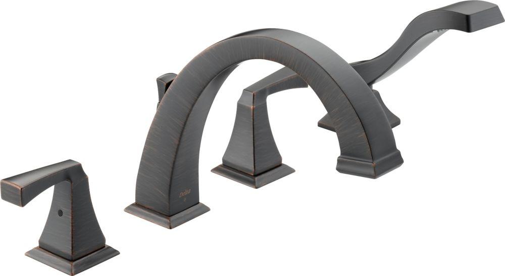 Dryden - Garniture seulement, 2 manettes pour baignoire romaine avec douchette, Venetian Bronze