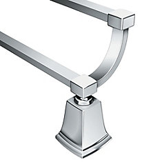 Boardwalk - Porte-serviettes de 24 po double, Chrome
