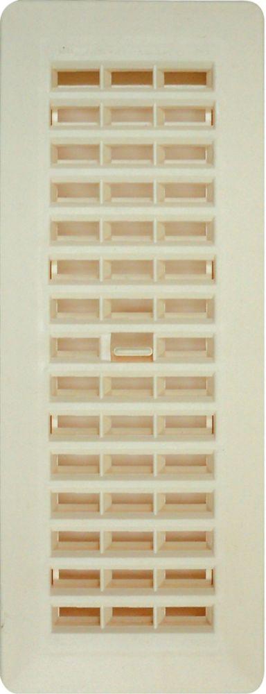 3 Inch x 10 Inch Beige Floor Register 6-Pack