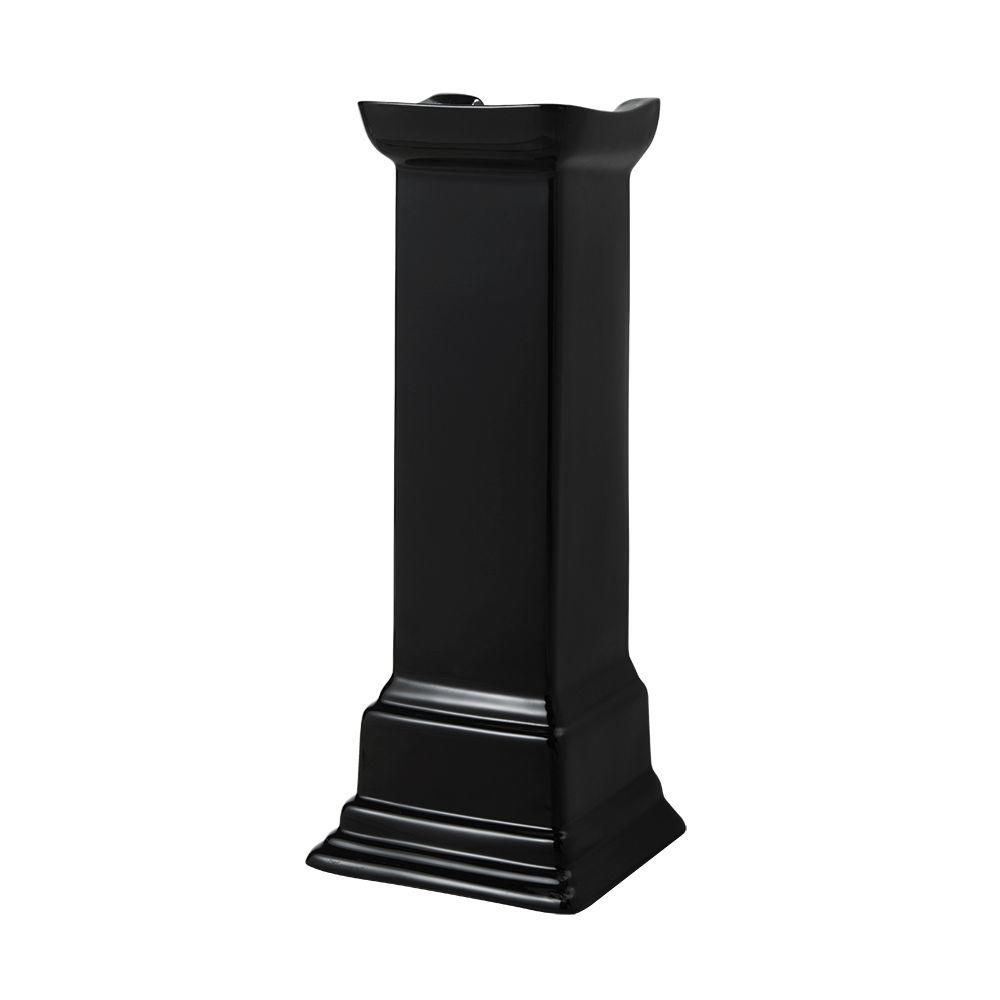 Foremost international colonne de lavabo sur colonne structure suite en noir home depot canada for Colonne de lavabo