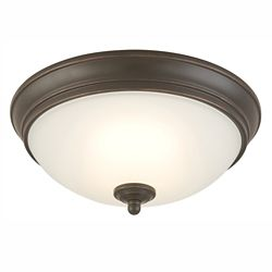 Commercial Electric 11-inch Oil-Rubbed Bronze Integrated LED Flushmount Light with Frosted Glass Shade - ENERGY STAR