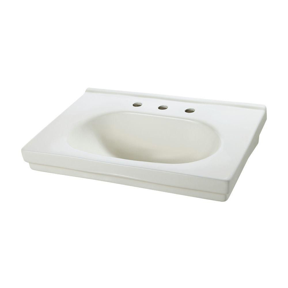 Structure Pedestal Sink Basin in Biscuit