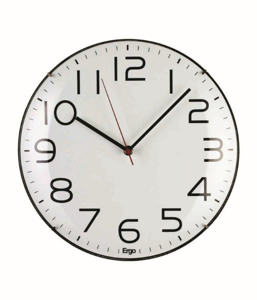 Frameless 12 White Wall Clock