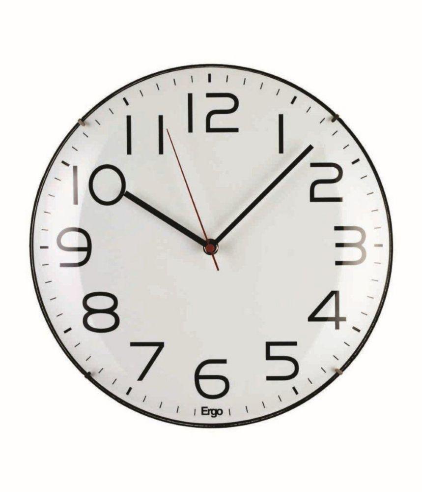 Frameless 12 White Wall Clock