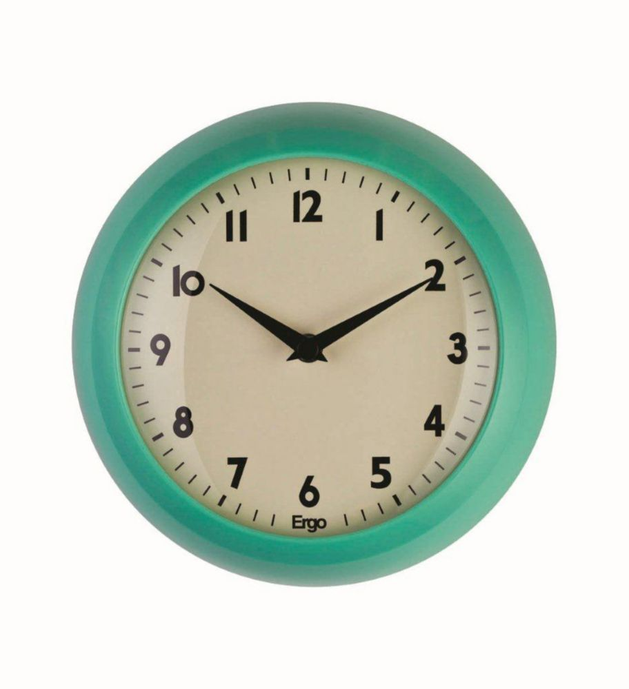 Retro 9 inch GreenWall Clock