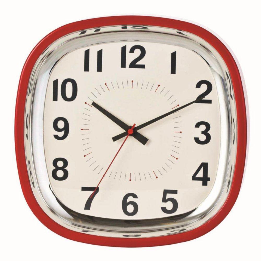Horloge murale Betty 12po, rouge