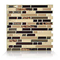 Smart Tiles 1-Piece 10.13-inch x 10-inch Peel and Stick Bellagio Mosaik