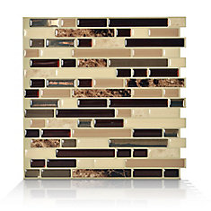 1 - Piece 10.13-inch x 10-inch Peel and Stick Bellagio Mosaik