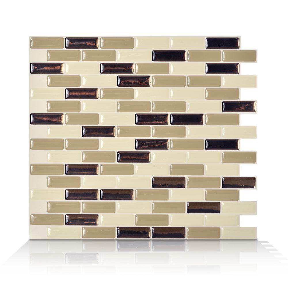 1 - Piece 9.13 Inch x 10.25 Inch Peel and Stick Murano Dune Mosaik