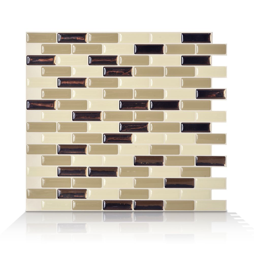 1 - Piece 9.13 Inch x 10.25 Inch Peel and Stick Murano Dune Mosaik
