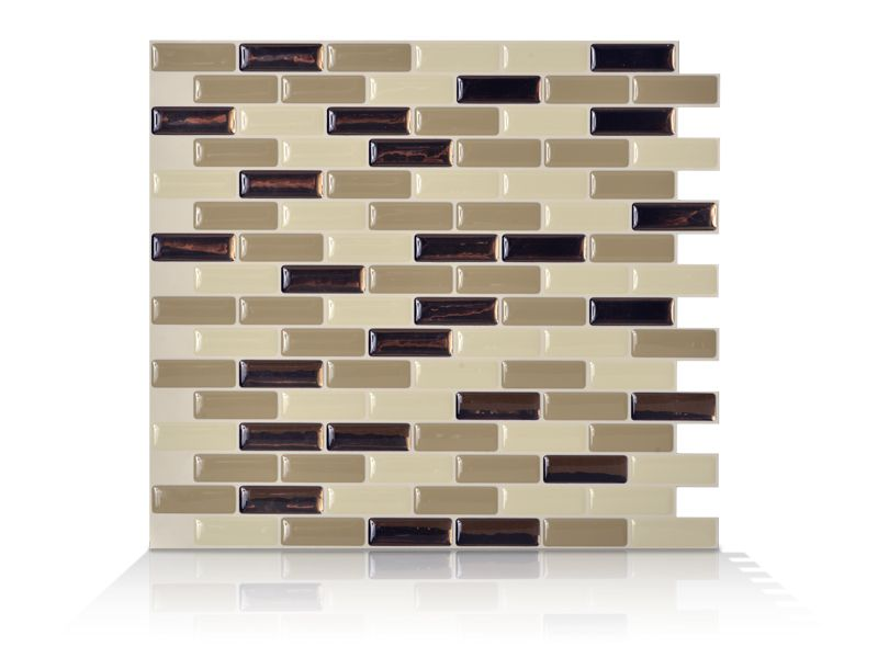 6 - Piece 9.13 Inch x 10.25 Inch Peel and Stick Murano Dune Mosaik