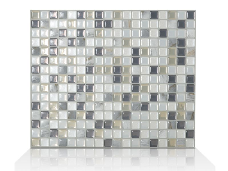 6 - Pièces 9.65 po x 11.55 po Mosaik Minimo Noche Autocollant