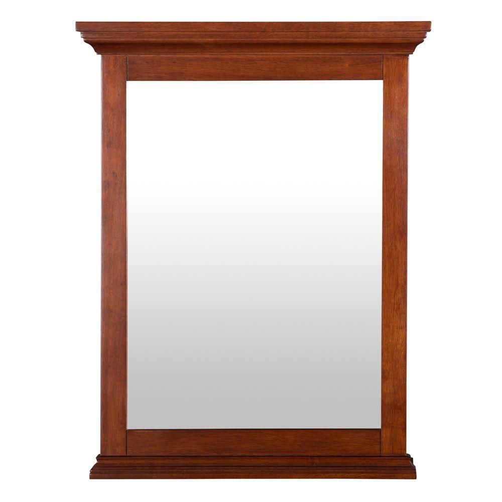 Foremost International Admiral 23-1/2 Inch x 30-3/4 Inch Wall Mirror in Walnut