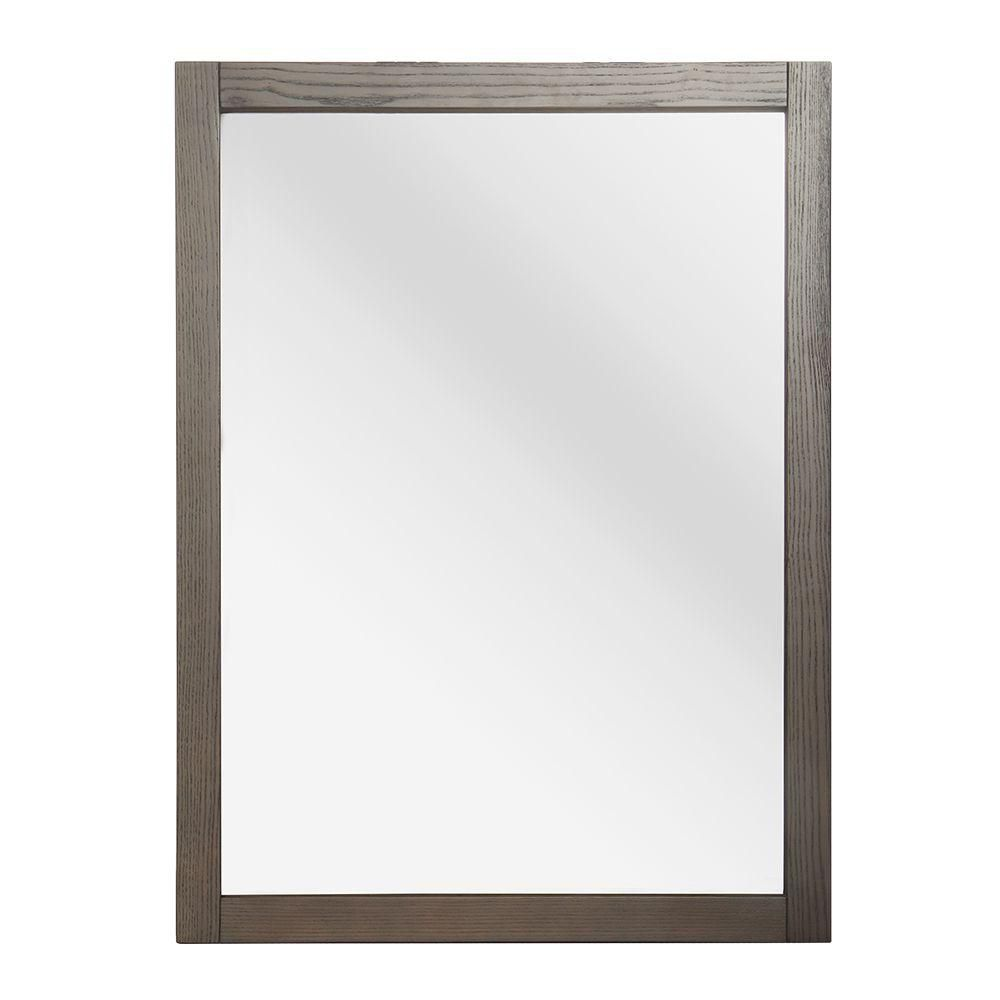 Brentwood 30-3/4 Inch x 23-1/2 Inch Wall Mirror in Driftwood