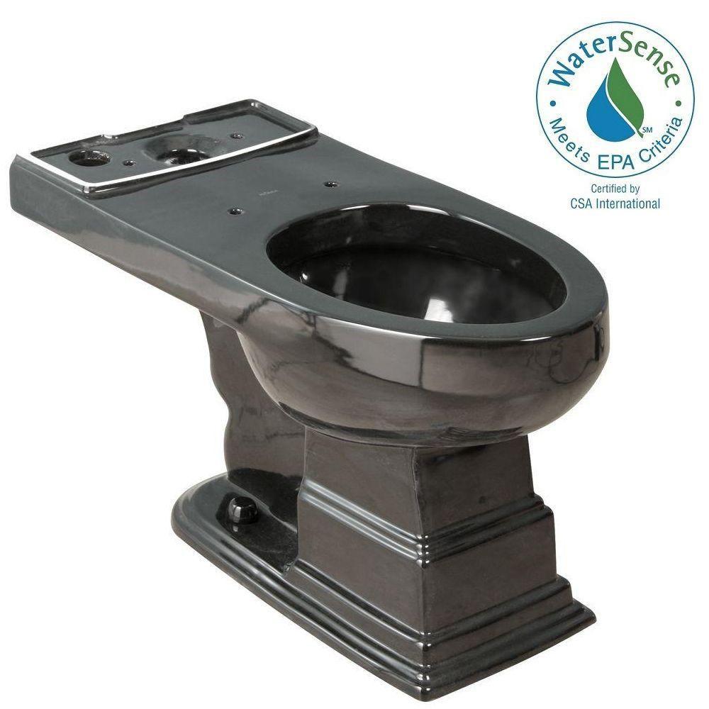 Cuvette de toilette allongée Structure Suite en noir seulement