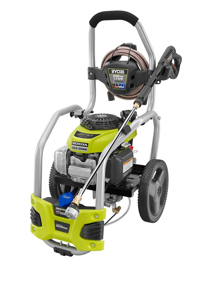 home depot pressure washers ryobi 3100 psi 2 5 gpm direct drive gas pressure washer 28665