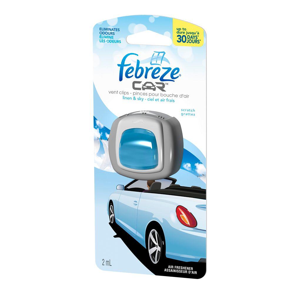 Febreze Car Vent Clip Linen & Sky - 2 ml