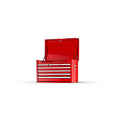 26 Inch 7 Drawer Red Top Chest