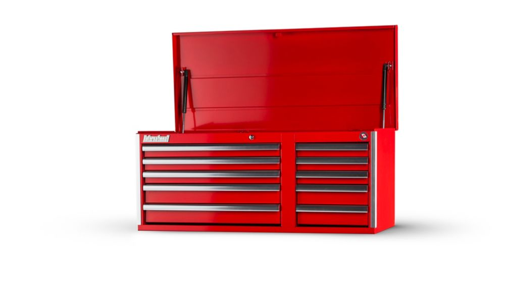 42 Inch 10 Drawer RedTop Chest