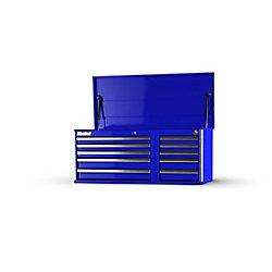 International 42 Inch 10 Drawer Blue Top Chest
