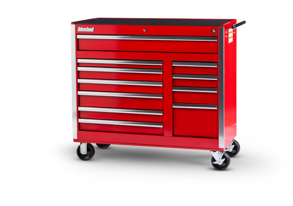 42 Inch 11 Drawer Red Tool Cabinet