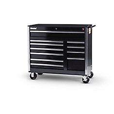 42 Inch 11 Drawer Black Tool Cabinet