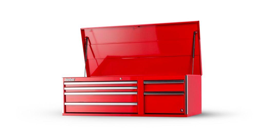Coffre ä 6 tiroirs de 56 po, rouge