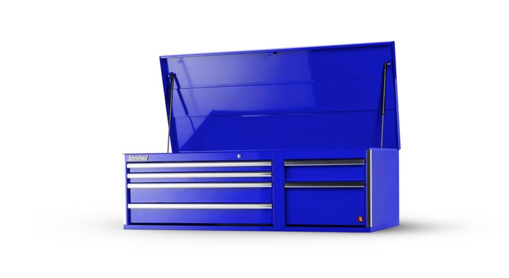 Coffre ä 6 tiroirs de 56 po, bleu