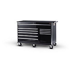 56-inch 10-Drawer Tool Cabinet in Black