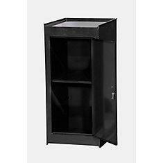 15 Inch Black One Shelf Side Locker