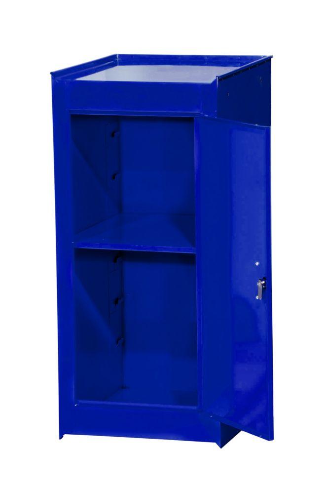 15 Inch Blue One Shelf Side Locker