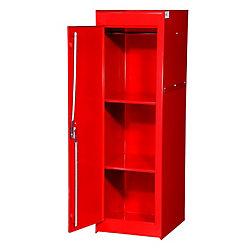 International 15 Inch Red Two Shelf Exta Deep Full Length Side Locker
