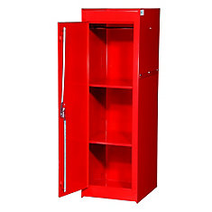 15 Inch Red Two Shelf Exta Deep Full Length Side Locker
