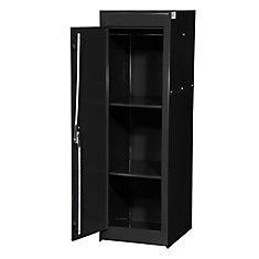15 Inch Black Two Shelf Exta Deep Full Length Side Locker