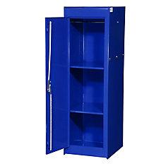 15 Inch Blue Two Shelf Exta Deep Full Length Side Locker