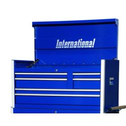 International 42 Inch Professional Series 6 Drawer Blue Tool Chest