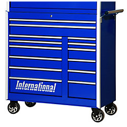 International 42 Inch Professional Series 14 Drawer Blue Tool Cabinet