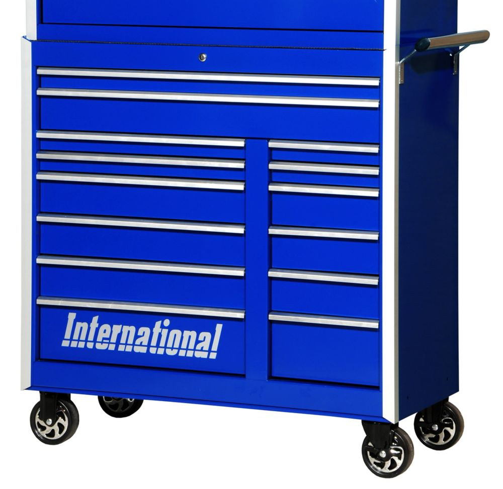 42 Inch Professional Series 14 Drawer Blue Tool Cabinet