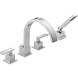Vero 2-Handle Roman Bath Faucet with Hand Shower in Chrome Finish