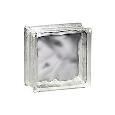 6 Inch x 6 Inch x 4 Inch Glass Block Decora Pattern, case of 12