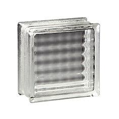 8 Inch x 8 Inch x 4 Inch Glass Block Argus Pattern, case of 8