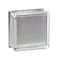 8 Inch x 8 Inch x 4 Inch Glass Block Essex AA Pattern, case of 8