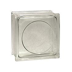 8 Inch x 8 Inch x 4 Inch Glass Block Focus Pattern, case of 8