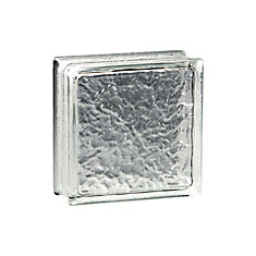 12 Inch x 12 Inch x 4 Inch Glass Block  IceScapes Pattern, case of 3