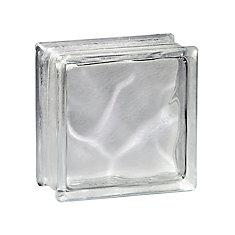 8 Inch x 8 Inch x 4 Inch Glass Block Decora LX Pattern, case of 8