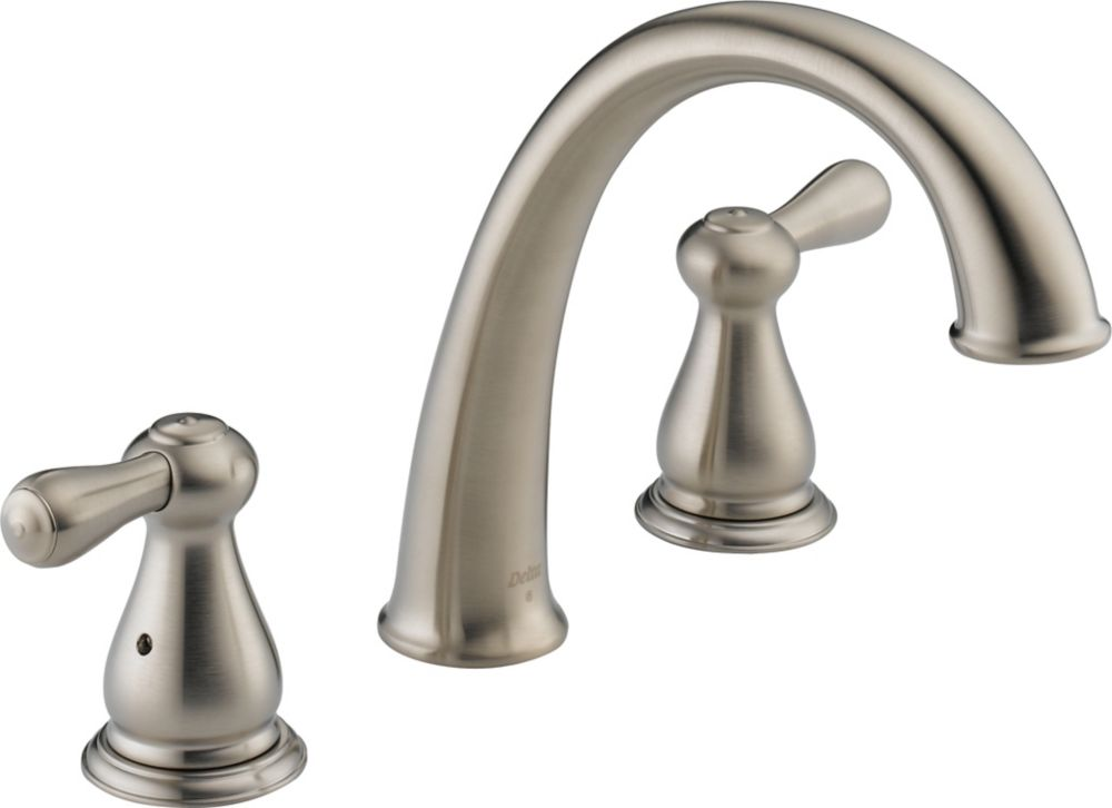 Leland 2-Handle Roman Bath Faucet Only in Stainless Finish