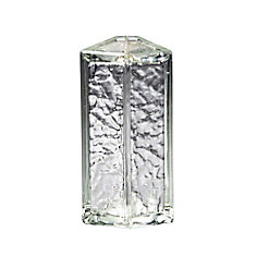 8 Inch Tridron 45 Glass Block IceScapes Pattern, case of 4