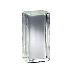 4 Inch x 8 Inch x 3 Inch Solid Glass Block Vistabrik, case of 6