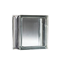 8 Inch x 8 Inch x 4 Inch Glass Block Vue Pattern Energy Efficient, case of 8